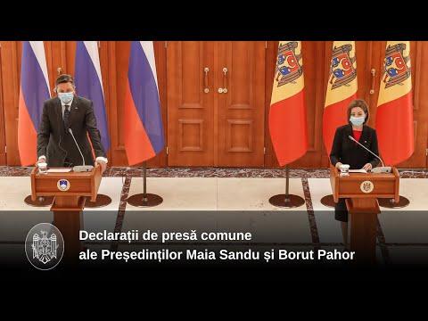 Declarațiile de presă ale doamnei Maia Sandu, Președintele Republicii Moldova, după întrevederea cu domnul Borut Pahor, Președintele Republicii Slovenia