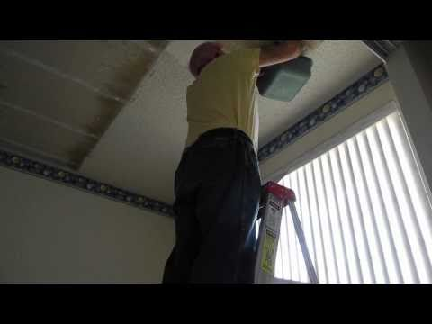 Remove ugly popcorn texture from your ceiling with water for How to remove popcorn ceiling without water