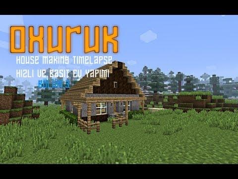 Minecraft House Making Timelapse (Basit Ev yapımı Timelapse)