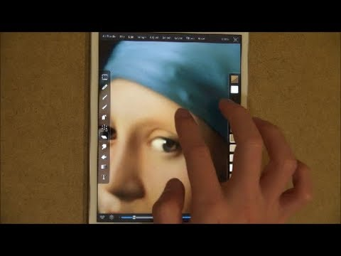 在iPad mini上完成世界名畫 – 戴珍珠耳環的少女
