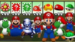 Super Mario 64 DS - All Power-Ups