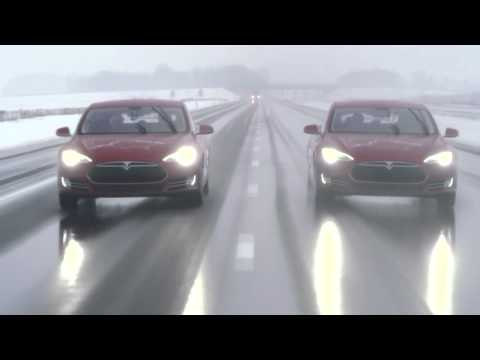 Tesla Model S - 700 электрических лошадей - видео обзор!