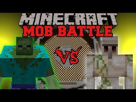 Mutant Zombie Vs Iron Golem - Minecraft Mob Battles - Mutant Creatures Mod