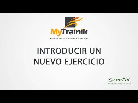MyTrainik. Insertar un ejercicio nuevo