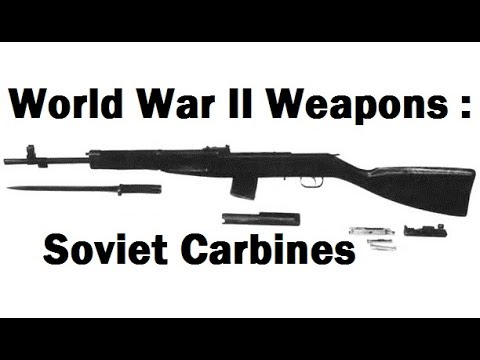 WW2 Weapons :  Russian Carbines Of World War II