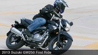 5. 2013 Suzuki GW250 First Ride - MotoUSA