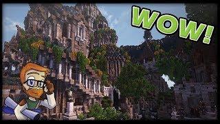 MOST AMAZING ELVEN MINECRAFT BUILDS :: Minecraft 1.10.2 Conquest Reforged
