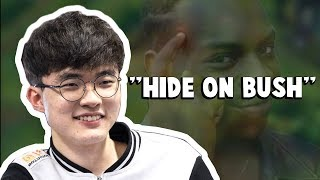 "Video This is What Faker Meant By ""Hide on Bush""... 