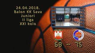 kk ras kk sava 68 75 (juniori, 24 04 2018 ) košarkaški klub sava
