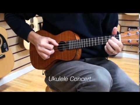 Concert Ukulele - Antes de decidir por qual Ukulele comprar, conheça as diferenças mais notáveis dos instrumentos. Neste video produzido pelo canal GigGear, você conhece melho...