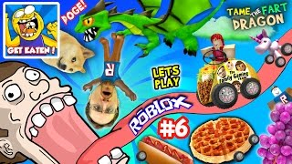 Video ROBLOX #6: GET EATEN...by DOGE? + Fart Dragon Taming! (Fast Food on Wheels is Yummy Nummy!) MP3, 3GP, MP4, WEBM, AVI, FLV September 2019