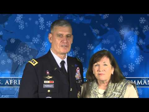 Happy Holidays from Gen. David and Mrs. Ginny Rodriguez.
