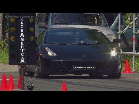 Nissan GT-R Boostlogic Godzilla vs Lamborghini Gallardo Nera UR TT