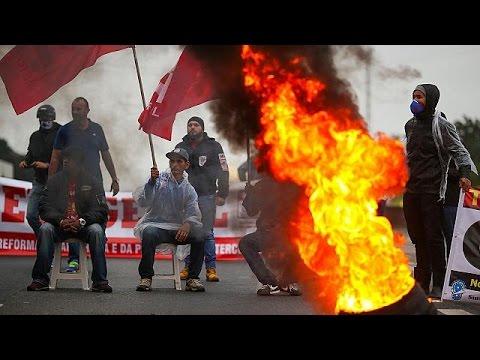 Βραζιλία: Χάος λόγω πανεργατικής απεργίας
