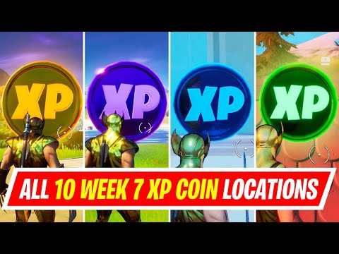 NEW All 10 WEEK 7 XP COINS LOCATIONS IN FORTNITE SEASON 4 - WHERE TO FIND WEEK 7 XP COINS