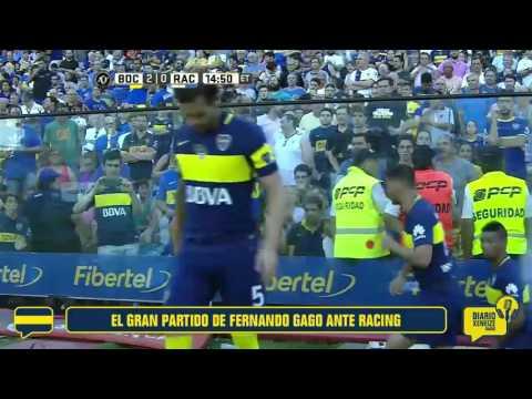 El gran partido de Fernando Gago ante Racing