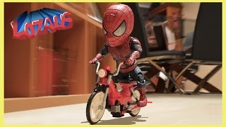 BABY SPIDERMAN Stop Motion Video with Stormtrooper & Venom