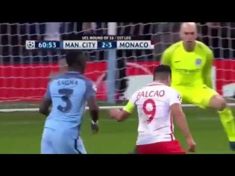 Manchester City vs Monaco 5-3 UCL 21/02/2017-All Goals & Highlights