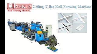 Ceiling T-BAR Roll Forming Machine With In-Line Punch youtube video
