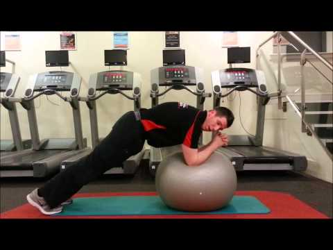Front Plank On Fitball