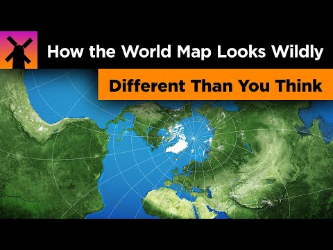 The World Map Looks Wildly Different Than You