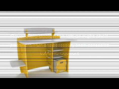 Video YouTube video ad for the 43INCH Kids Desk With File Cart