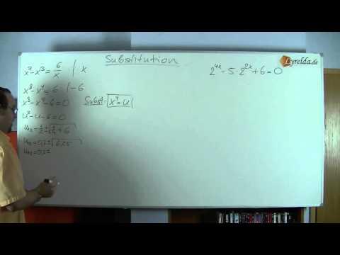 Substitution - Erklärung