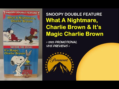 "Opening To ""Snoopy Double Feature"" (2 Full Length Animated Features) 1995 Promotional VHS*"