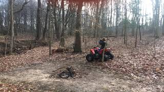 6. Can-am Outlander 1000 & Can-am DS90 trail riding