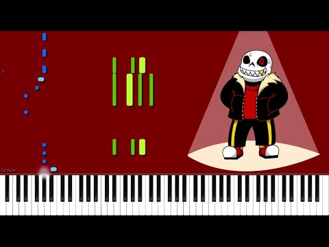 Underfell // Edgy Sans is Edgy // Piano (видео)
