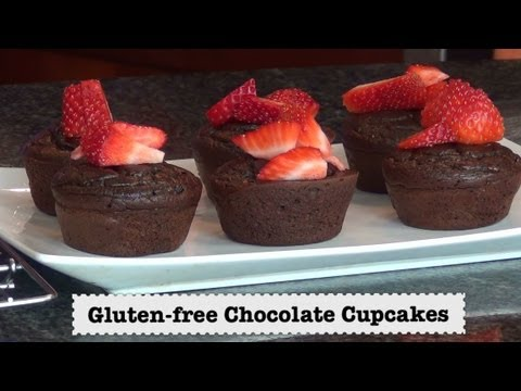 No Flour, Dairy or Gluten! Chocolate Cupcakes