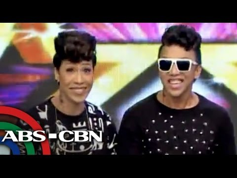 look alike - An amused Vice Ganda danced side by side with his impersonator on