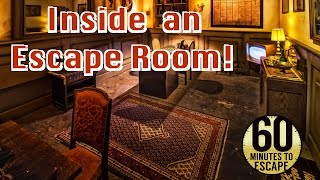 INSIDE AN ESCAPE ROOM!!