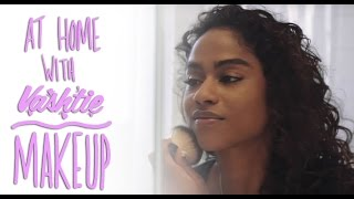 """Vashtie walks us through her simple makeup routine, highlighting all of her favorite products for everyday use.ProductsConcealer: Afterglow Organic Aloe Infused Concealerhttp://bit.ly/1KGC4vAFoundation: Afterglow Organic Infused Foundation Power (color - Fawn)http://bit.ly/1RnXJLyBrush: Elf Kabuki Brushhttp://bit.ly/1TUbEqbBlush: Afterglow Organic Infused Blush (color - Dusty Rose)http://bit.ly/23215YJLipstick: NARS """"Damned"""" velvet matte lip linerhttp://bit.ly/1QlPXwSLip Pencil: NARS Velvet Matte Lip Pencil http://seph.me/2321gDfLip Balm: Kiehl's Lip Balm #1http://bit.ly/1SQp4FyFollow VashtieFacebook: http://www.facebook.com/vashtie.kolaTwitter: http://twitter.com/vashtieInstagram: http://instagram.com/vashtieTumblr: http://vashtie.tumblr.comSoundcloud: https://soundcloud.com/vashtieWebsite: http://www.vashtie.com"""