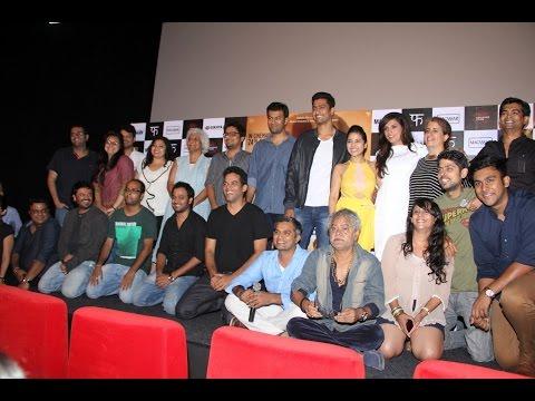 Richa Chadda, Sanjay Mishra & Others At Trailer launch Of Film Masaan