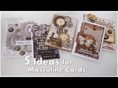 5 Masculine Cards Ideas Tutorial ♡ Maremi's Small Art ♡