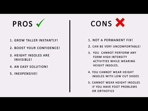 PROS & CONS OF HEIGHT INSOLES
