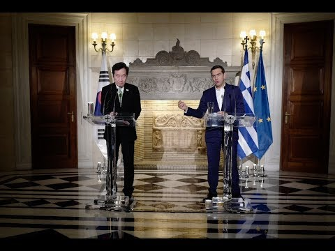 Κοινές δηλώσεις με τον Πρωθυπουργό της Δημοκρατίας της Κορέας κ. Lee Nak-yon
