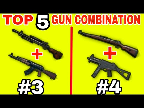TOP 5 BEST GUN COMBINATIONS IN PUBG MOBILE • PUBG MOBILE GUN COMBOS