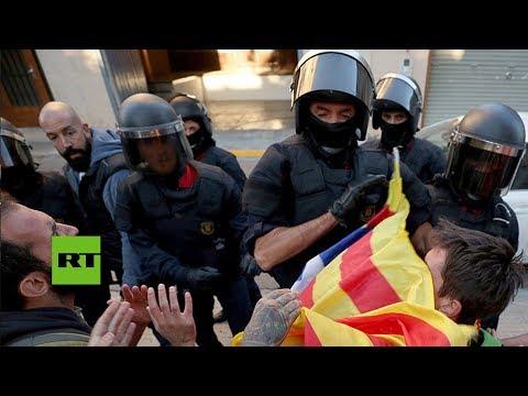 Polizeiaktionen wegen des Referendums in Katalonien