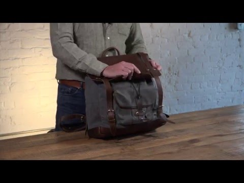 The Northrop Waxed Canvas Laptop Backpack Video
