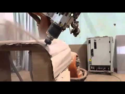 Furnutire cutting programming with SprutCAM Robot for KUKA