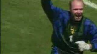 Thomas Ravelli hält Elfmeter gegen Rumänien (WM 1994)