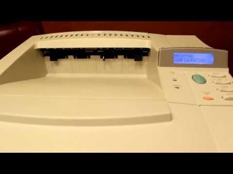 HP LaserJet 4050N Workgroup Laser Printer Config Test for Customer.