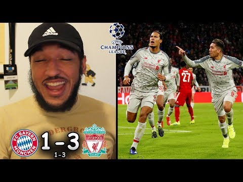 BAYERN MUNICH 1-3 LIVERPOOL REACTION | 2018/19 Champions League | Mane & Van Dijk Sink Bayern