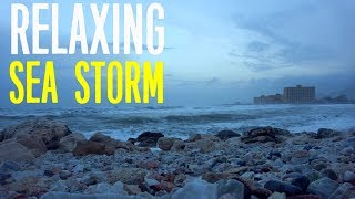Mediterranean Sea Storm - Relaxing video and sounds of waves and Wind - Beach Relaxation HD