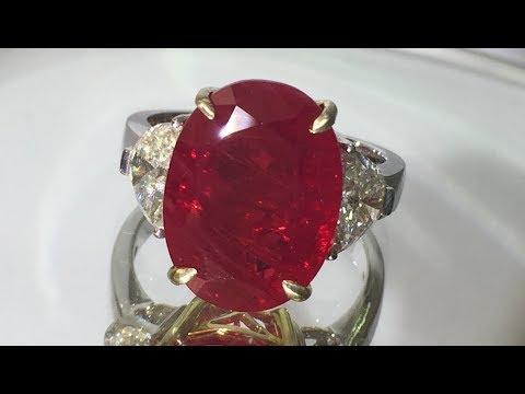 Very Rare Pigeons Blood Burma Unheated Ruby Ring