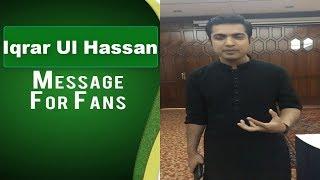 Iqrar Ul Hassan Support PSL T20 Team Karachi Kings 2018