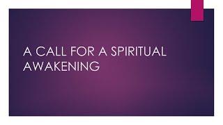 Pastor Behm - A Call For A Spiritual Awakening