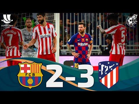 RESUMEN   FC Barcelona 2 - 3 Club Atlético de Madrid   Semifinales Supercopa España